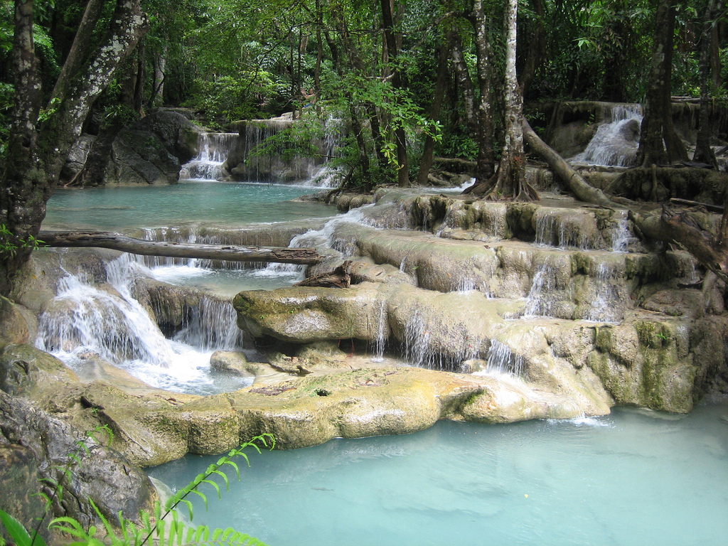 Erawan Waterfalls - Flickr, Todd Huffman