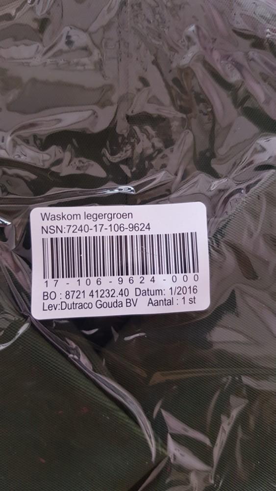 Waskom Legergroen