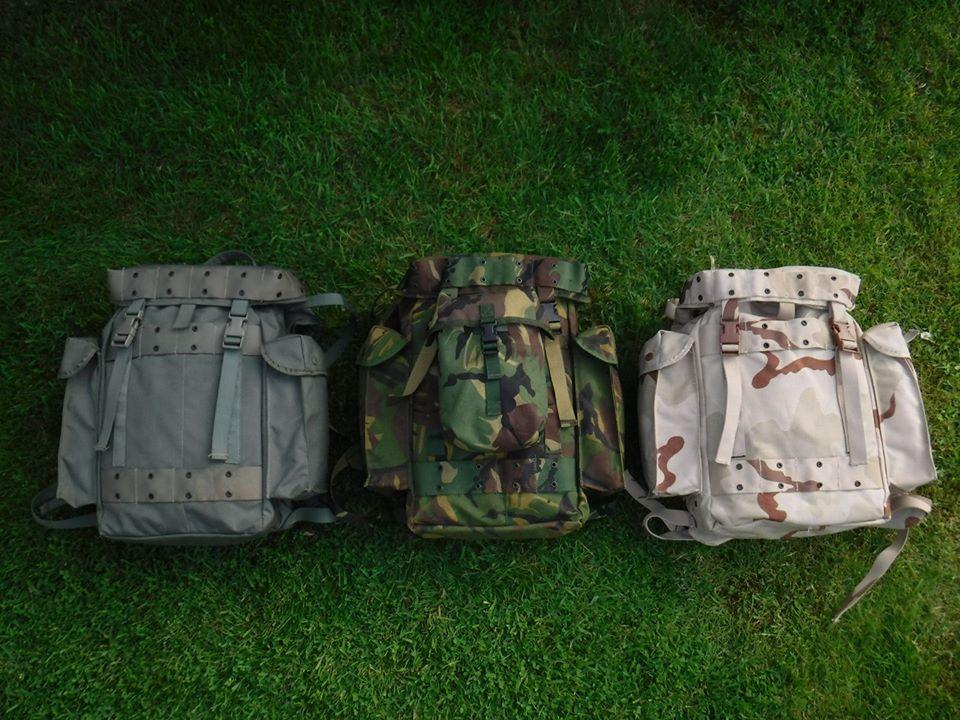 3 x Dutch army backpack