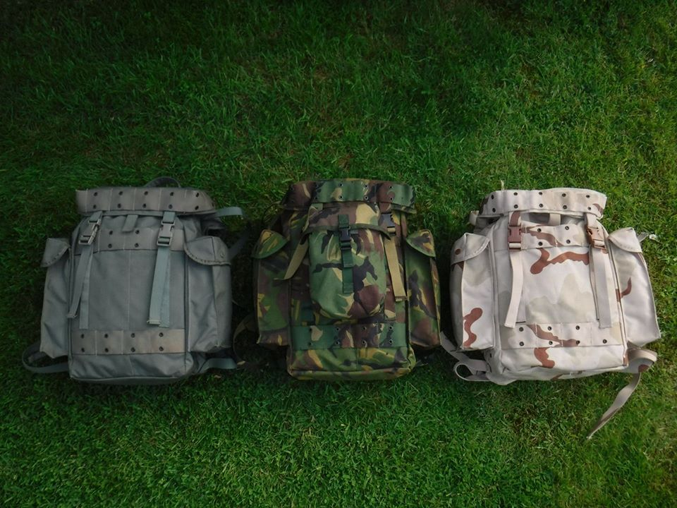 3 x Dutch army backpack