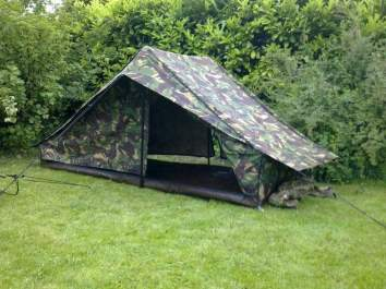 Dutch Army pup tent 04