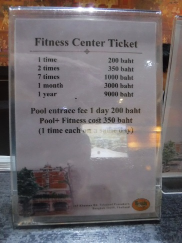 Pool and Fitness access at Buddy Lodge Hotel Bangkok