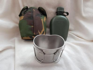 Dutch Army Canteen cup + water bottle 03.