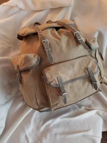 Sac Millet - Canvas and leather rucksack 01