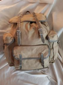 Sac Millet - Canvas and leather rucksack 02