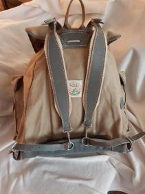 Sac Millet - Canvas and leather rucksack 03