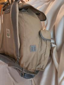 Sac Millet - Canvas and leather rucksack 04