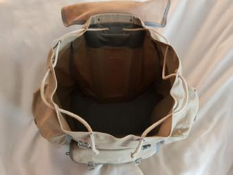 Sac Millet - Canvas and leather rucksack 08