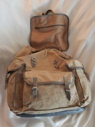 Sac Millet - Canvas and leather rucksack 09