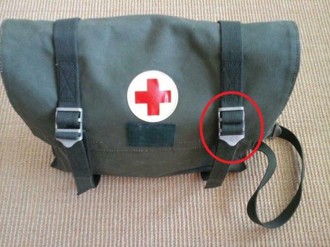 Medical bag Swedish Army with ladder buckles